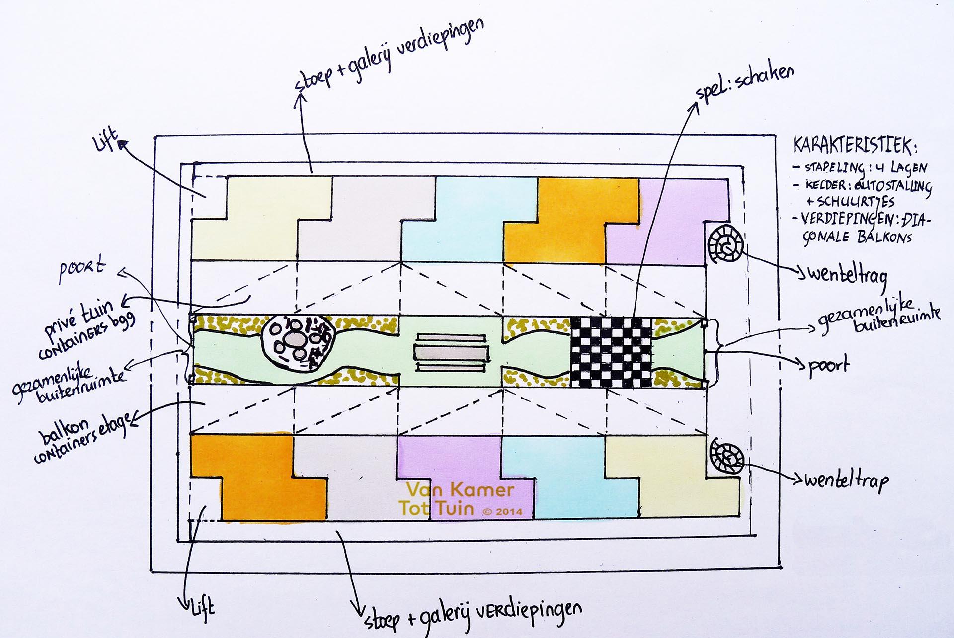 Vlekkenplan huis for Cursus 3d tekenen interieur